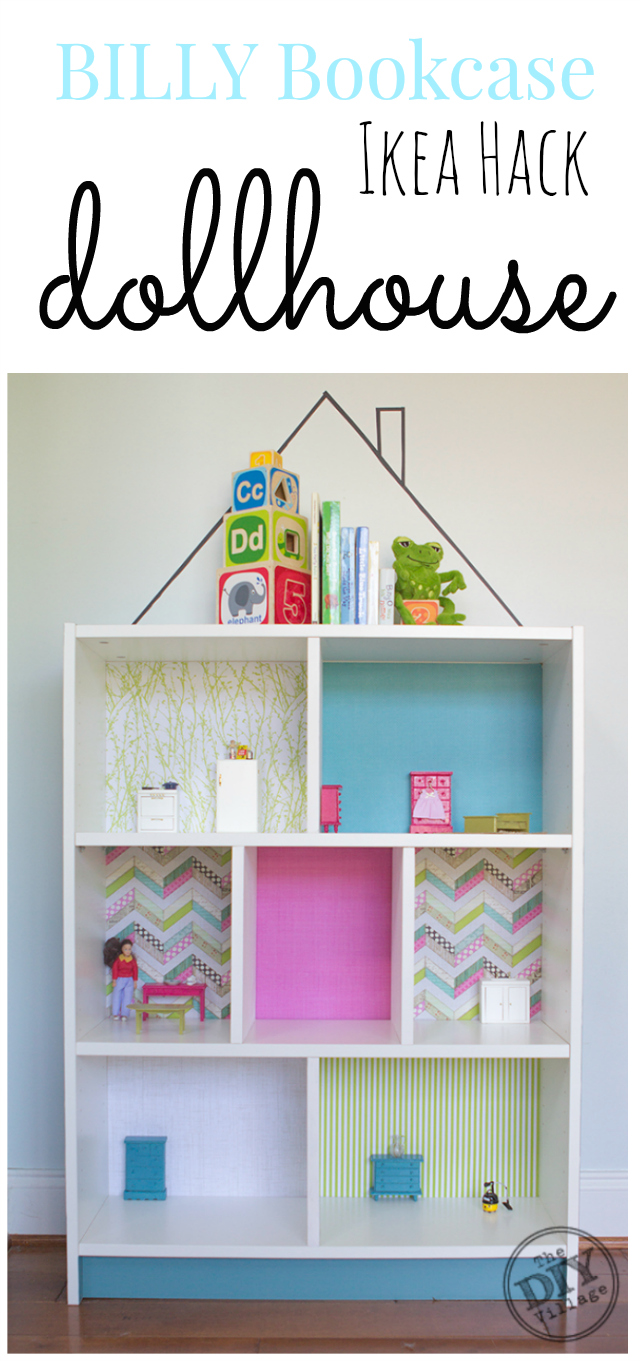 billy bookcase diy dollhouse ikea hack the diy village. Black Bedroom Furniture Sets. Home Design Ideas