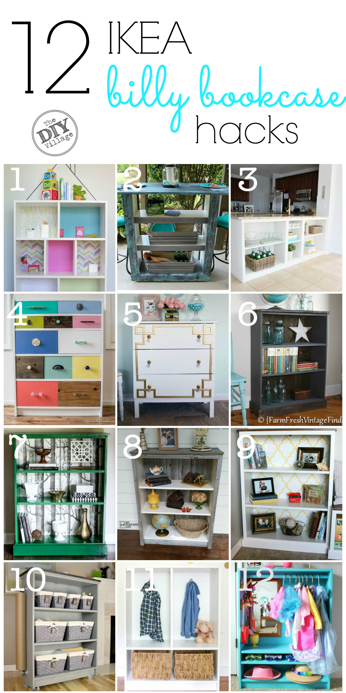 12 awesome BILLY Bookcase IKEA hacks. A little something for everyone!