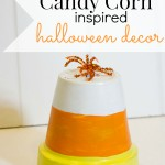 Candy corn inspired halloween decor, so cute and easy!!!