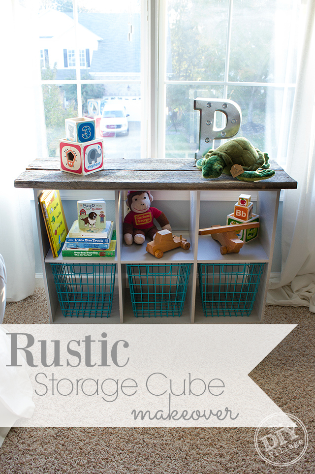 Rustic Storage Cube Makeover - The DIY Village