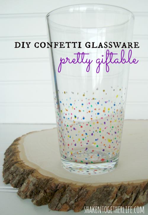 DIY-multi-color-confetti-glassware-pretty-gifts-shakentogether
