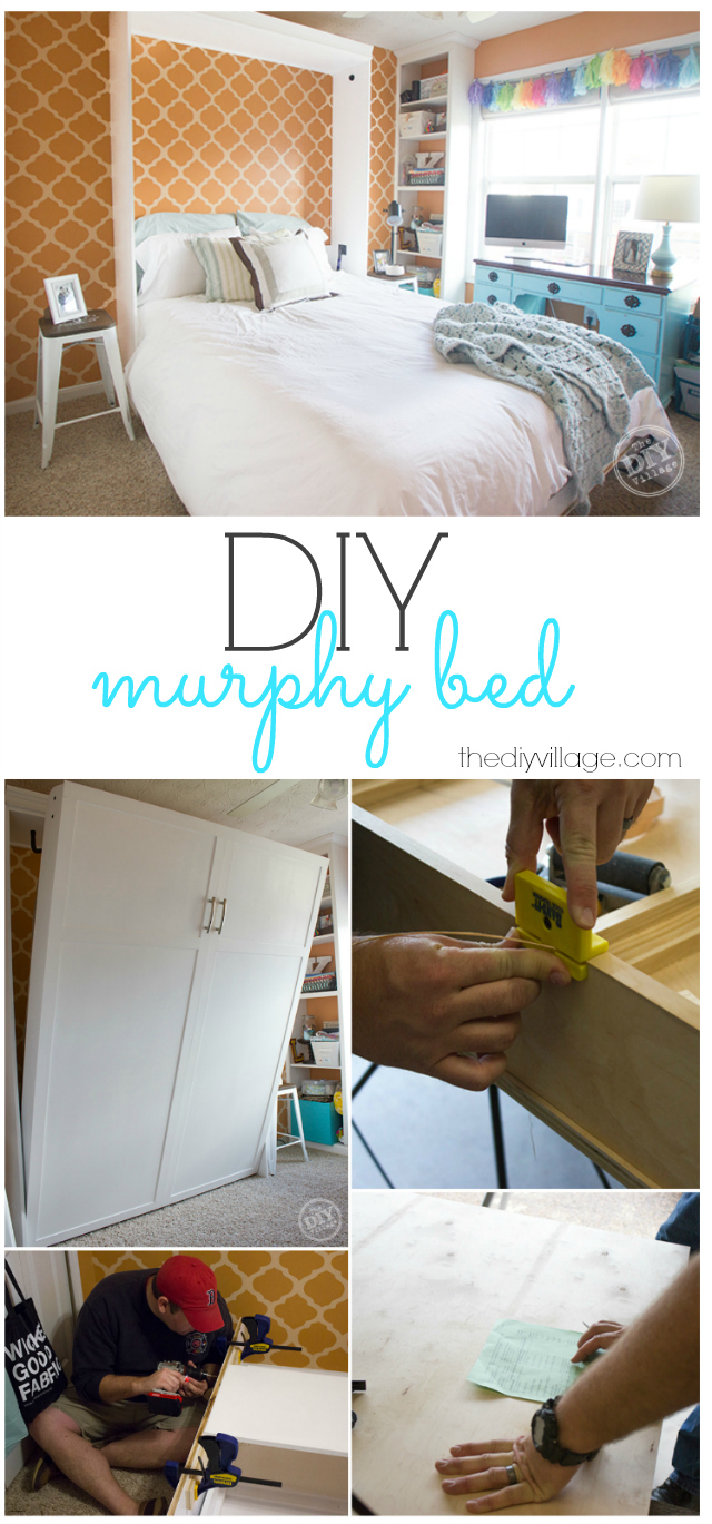 Diy murphy bed making room for guests the diy village diy murphy bed wall bed project solutioingenieria Gallery