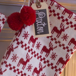 Instead of having your stockings monogrammed consider making custom tags for your stockings. Talk about money saver!