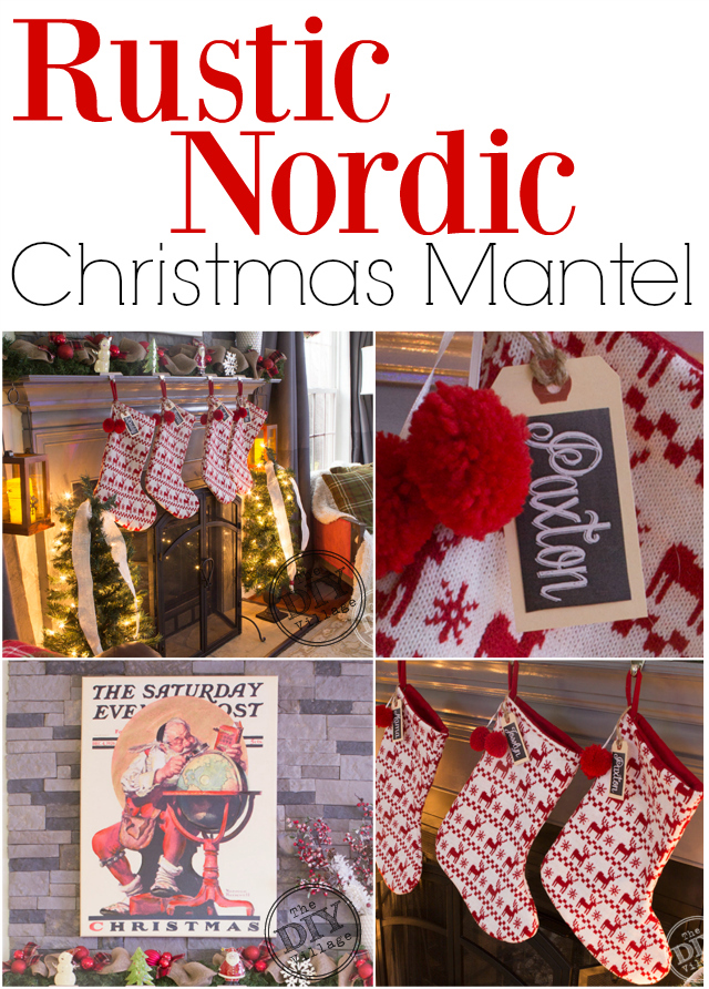Rustic Nordic Christmas Mantel The Diy Village