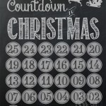 Chalkboard Christmas Countdown & Printing The Holidays Giveaway