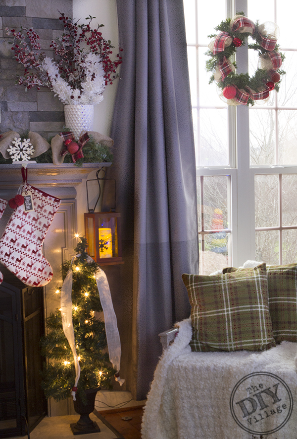 Awesome idea to hang wreaths on the inside of your windows to enjoy during the holidays!