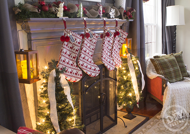 Changing up your mantel for Christmas doesn't have to be expensive. You can make a few easy changes to customize your look for pennies on the dollar!