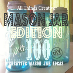 Over 100 creative ideas and uses for mason jars. These aren't your grandmas old canning jars! So many awesome ideas in one place.