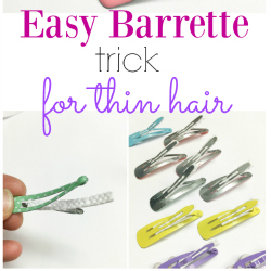 Easy Barrette Trick for Thin Hair Sq