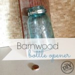 Easy rustic project for your home using vintage mason jars and old barnwood! I love everything about this!