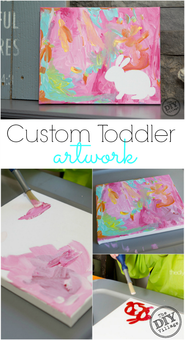 Easy toddler spring art the diy village for Pinterest art ideas for adults
