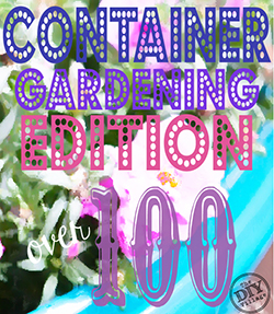 Over 100 creative ideas for container gardening and small space gardening. So many ideas I can't decide which one to try first!