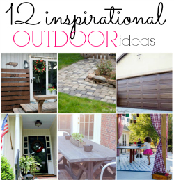 12 inspiration outdoor DIY ideas that will get your home and yard ready for the summer! Whose ready to enjoy the outdoors?