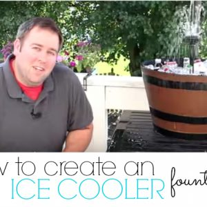 Awesome DIY for your next cookout, create a custom Ice cooler fountain to be able to enjoy even after your cookout is over!