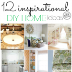 12 inspirational diy home ideas to get your juices flowing. I always feel like I'm in a rut with our house, I can't wait to get a start with at least one of these projects this summer. What a great way to beat the heat and stay inside.