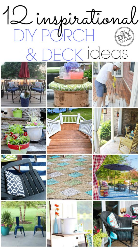 12 inspirational diy porch deck ideas