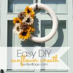 Easy DIY Sunflower Wreath