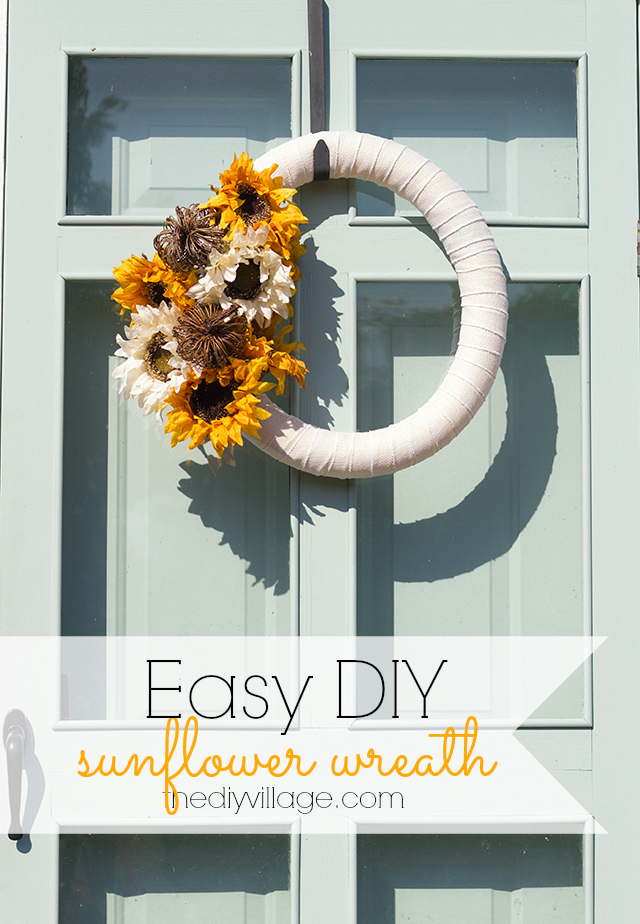 Who said a wreath has to be boring? This tutorial is great for making a sunflower wreath. Perfect for the fall or most anytime of year!