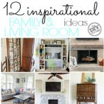12 inspirational family and living room ideas. I am loving the fireplace ideas. Totally outside the box!