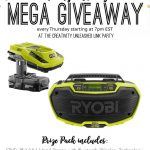 Creativity Unleashed No. 153 and Ryobi Giveaway