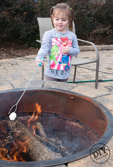Family fun with fire pit s'mores. What a fun way to spend a crisp evening!