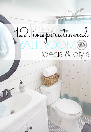 12 inspirational Bathroom ideas and DIYs for everyone!  As simple as changing your own toilet!