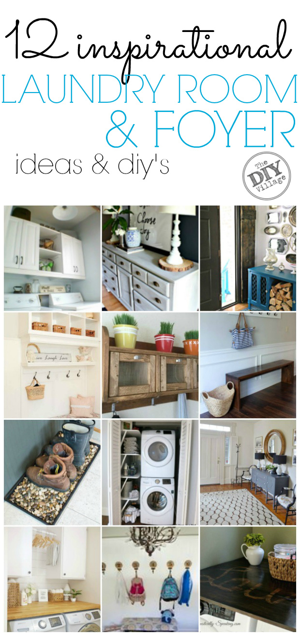 12 Inspirational Laundry Rooms Foyers The Diy Village