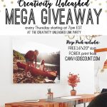 Creativity Unleashed no. 159 & CanvasDiscount Giveaway