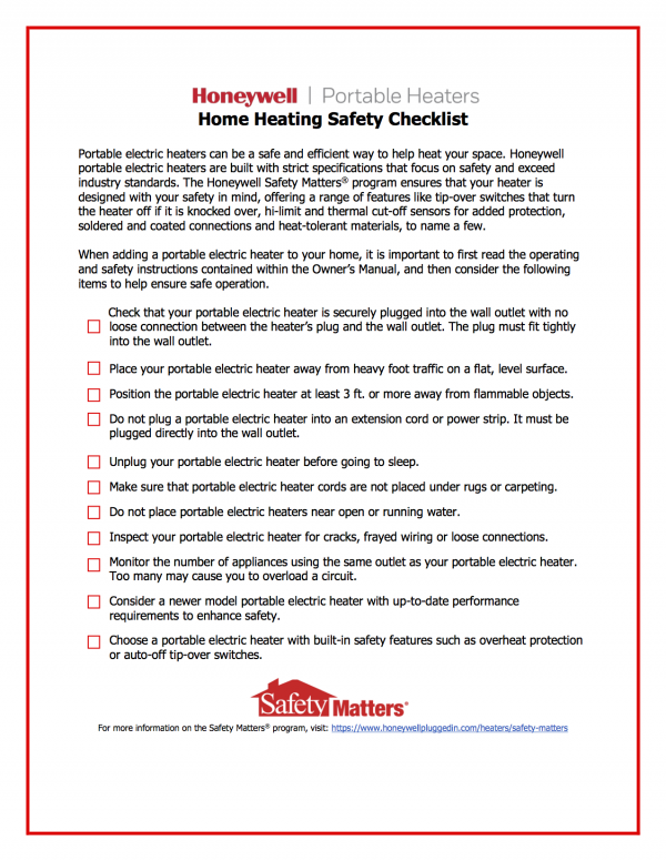 Safe home heat is a hugely important during the winter months when the use of secondary heating sources is higher. Be smart and safe about your use of portable heaters with some easy tips.