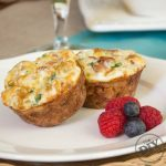 Egg White and Turkey Bacon Birds Nest Brunch recipe