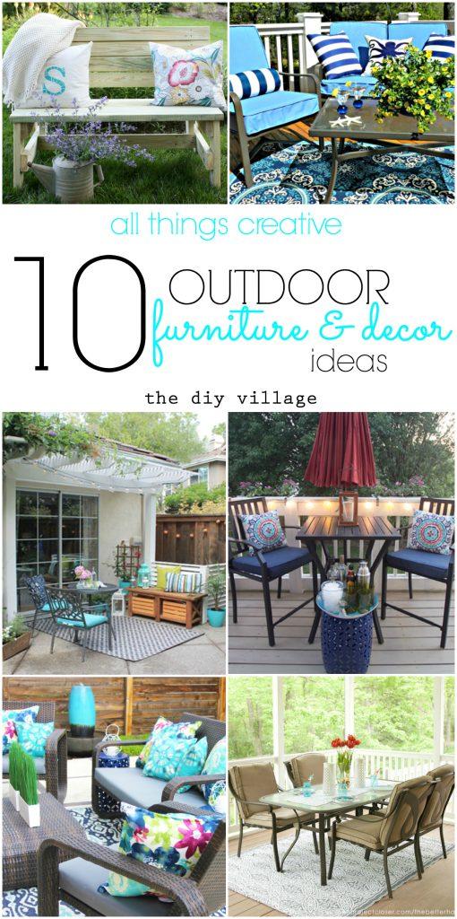 10 creative outdoor furniture and decor ideas