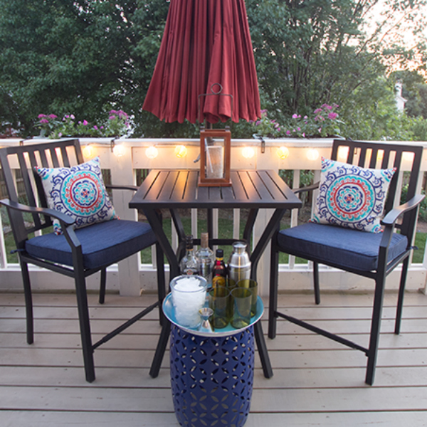 Budget Friendly outdoor space makevoer. Outdoor furniture and Decor ideas