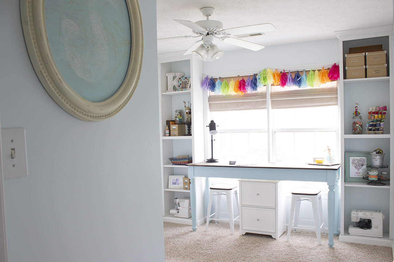 Amazing craft room makeover for under $200.
