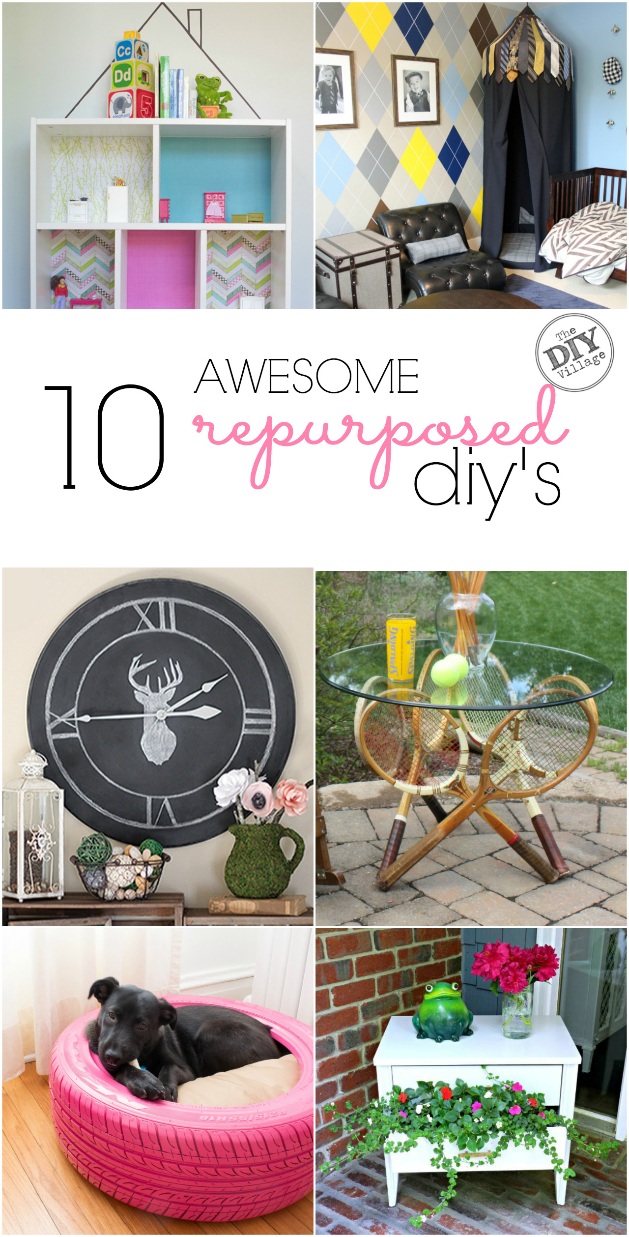 10 awesome repurposed DIY projects anyone can do!
