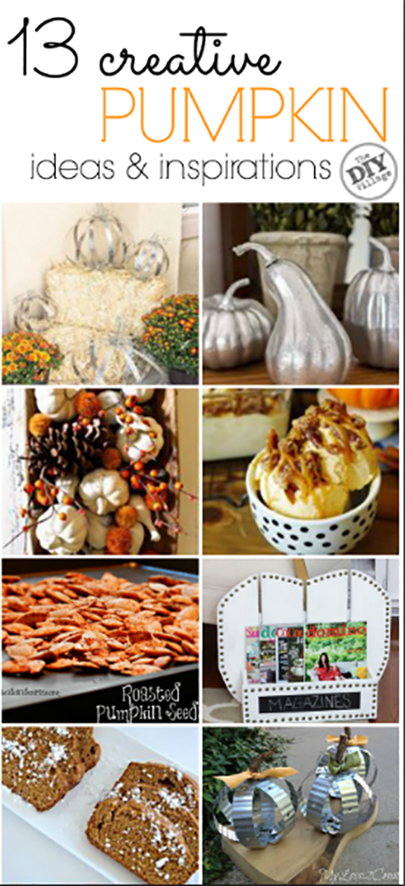 13 creative ideas for pumpkins.  Bring on fall ya'll