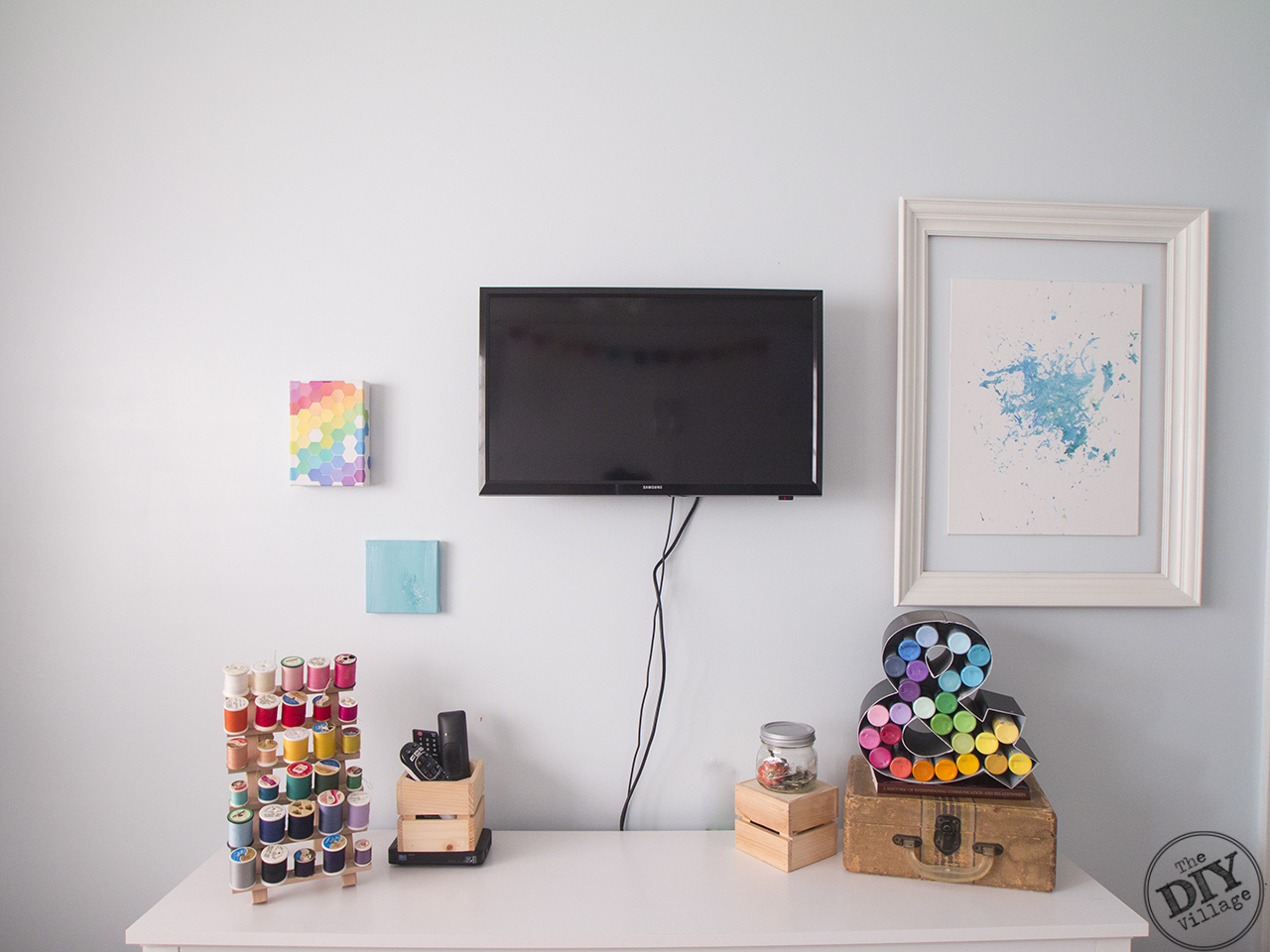 Wall Mounted TV Installation Made Easy in a multi purpose room (dual craft room and guest room)