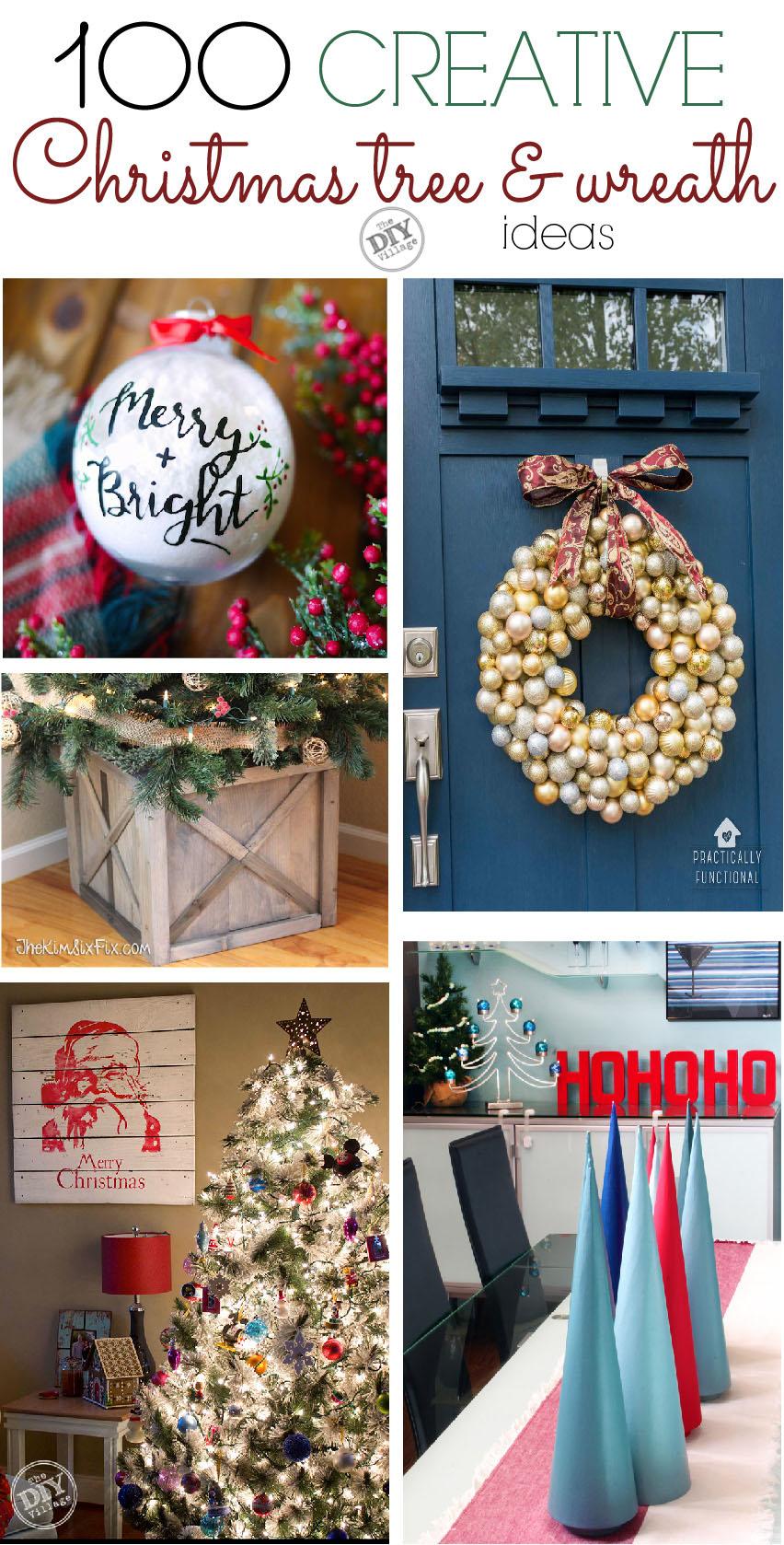 100 creative Christmas tree and wreath ideas for everyone. #christmas #decor #wreath #ChristmasTree