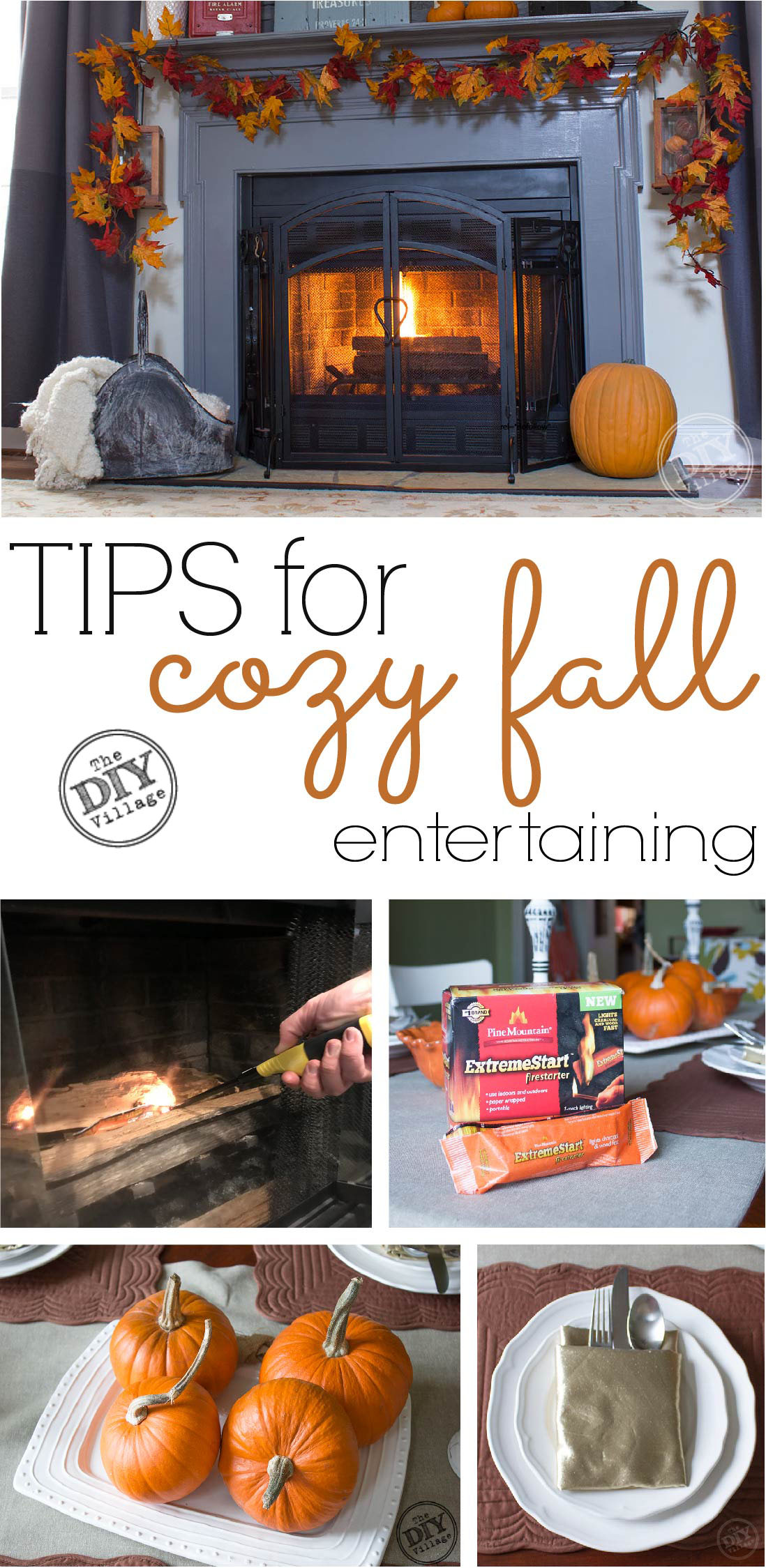 Easy tips for creating a home for cozy fall entertaining, indoors and outdoors.