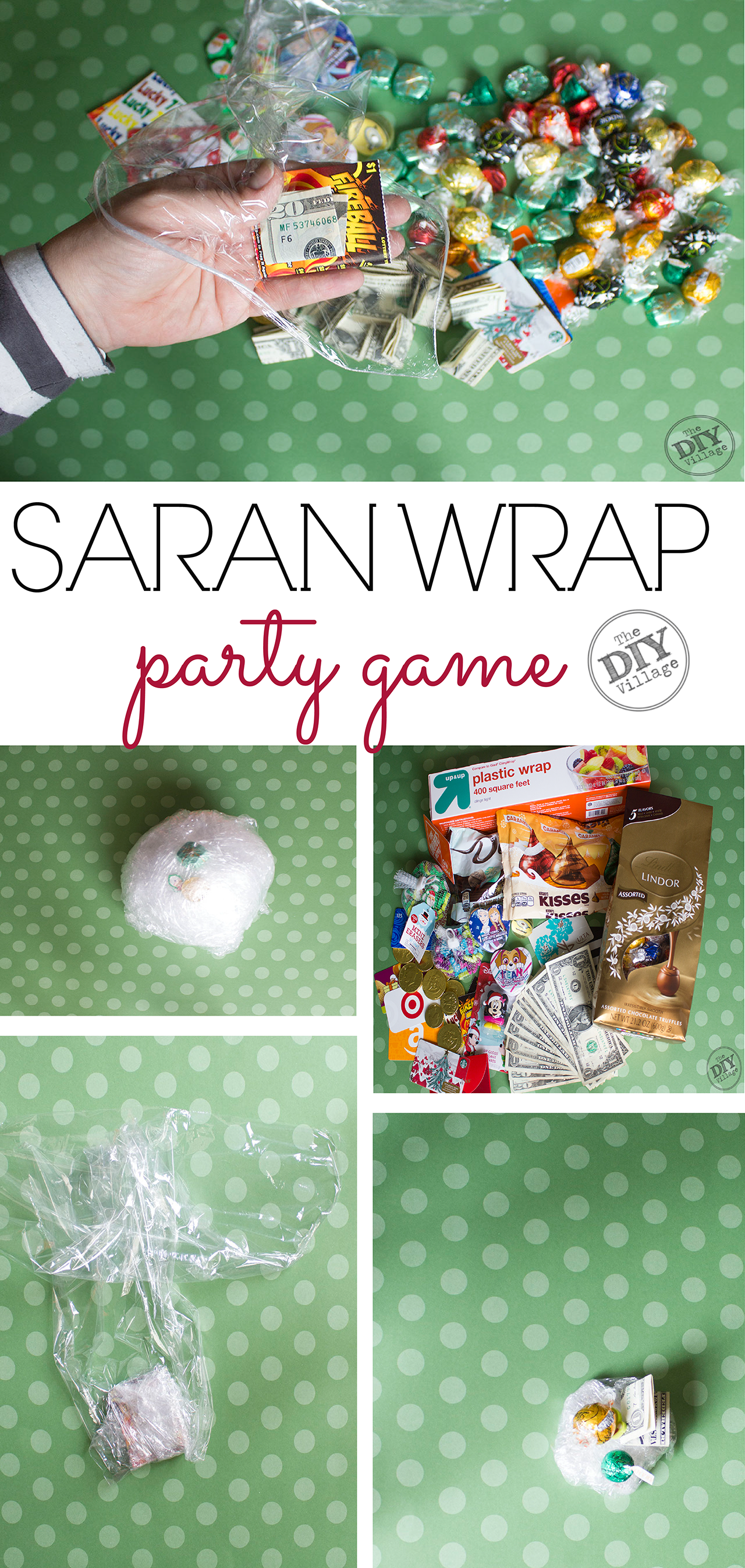 How to play the saran wrap party game, including instructions. A must for your next get together!