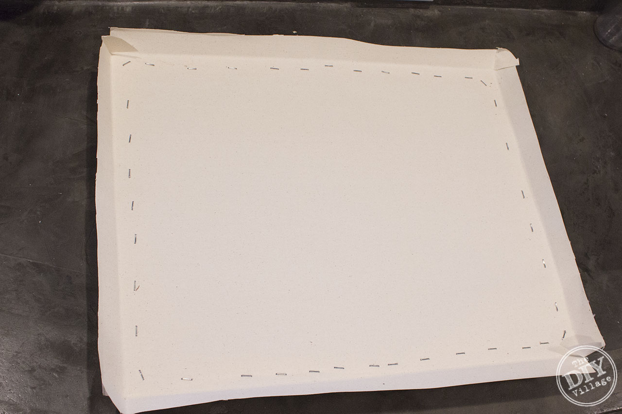 Step by step of using a pre-made artist canvas to create custom framed art