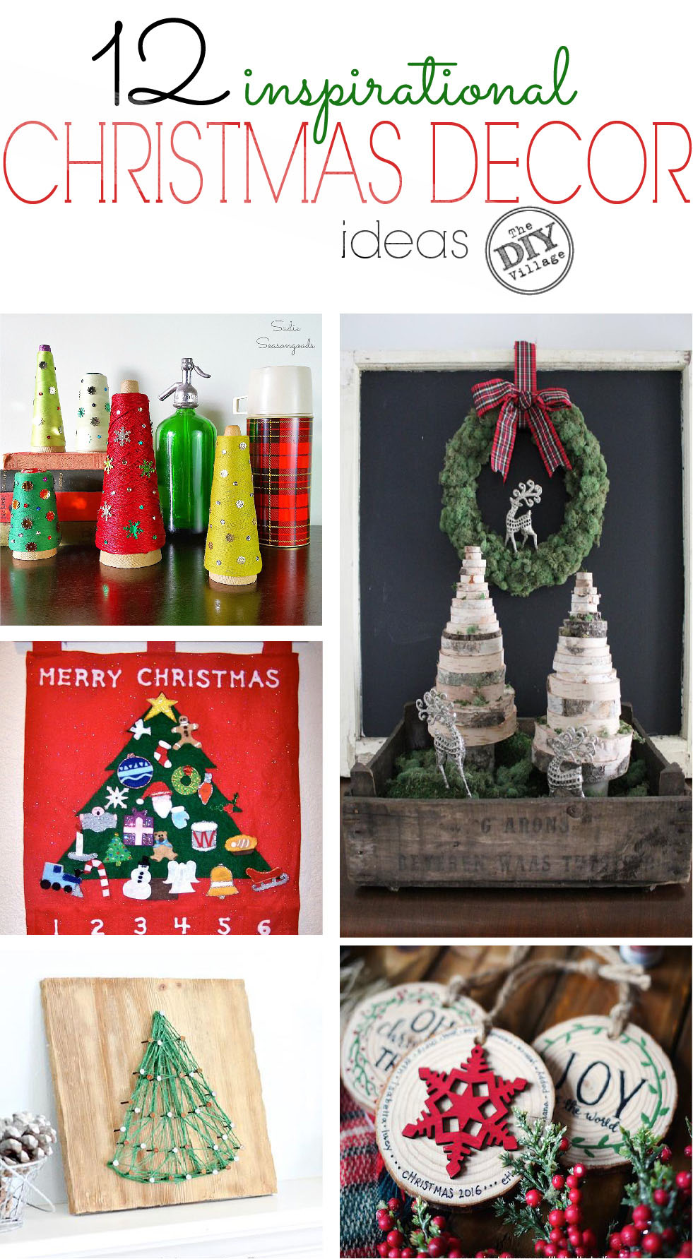 12 inspiration Christmas tree and decor ideas.