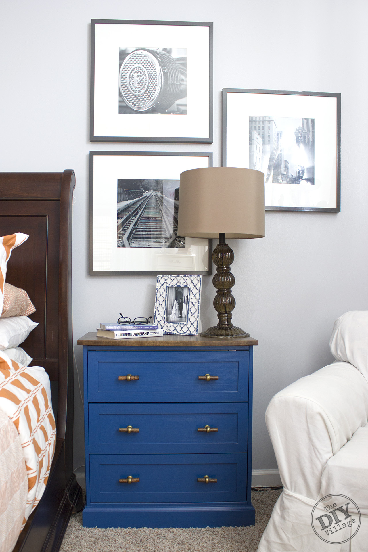 From Dresser To Nightstand Ikea Rast Makeover The Diy Village