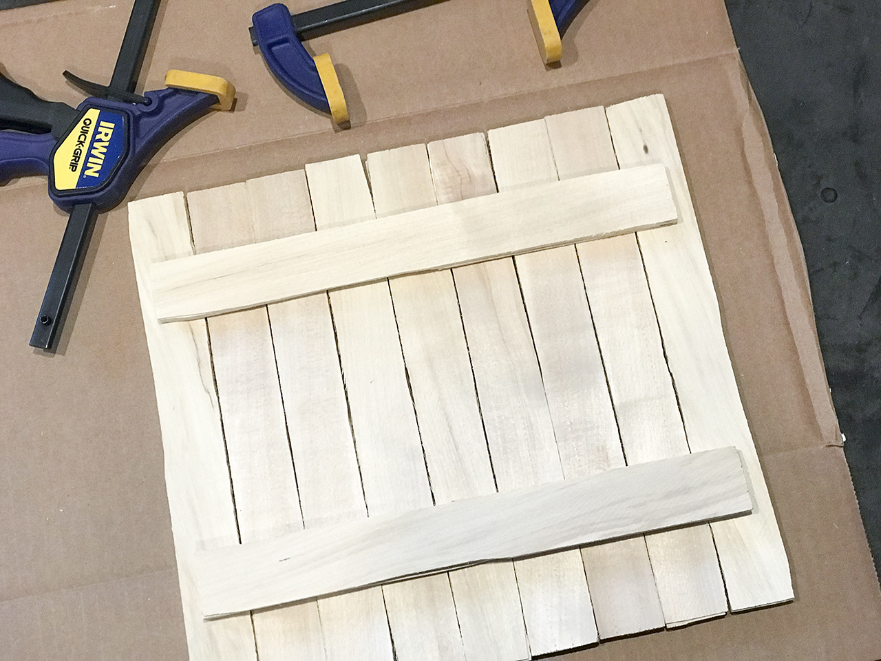 DIY Wood shim display frame - how to