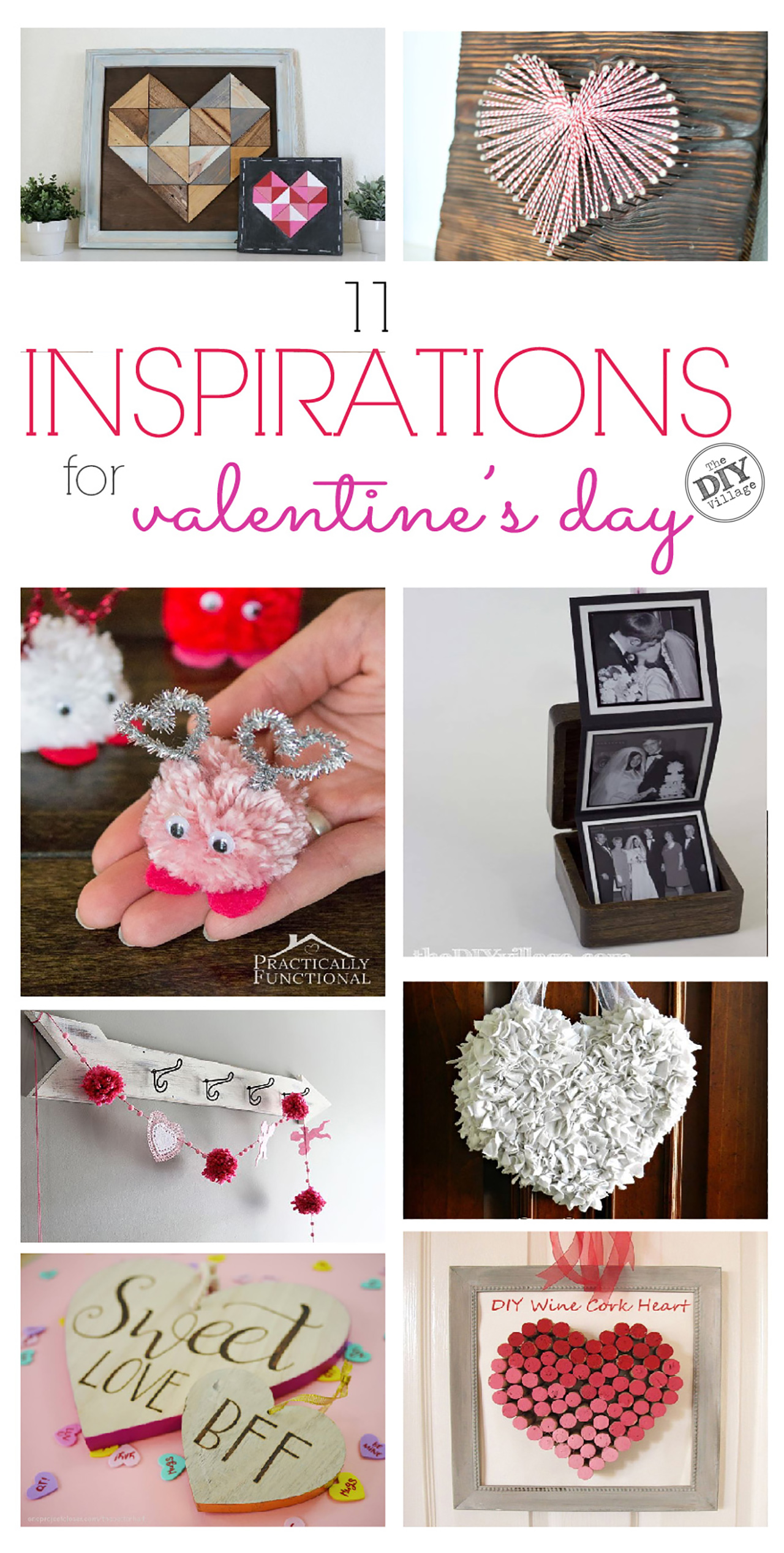 Valentine's Day craft ideas with text