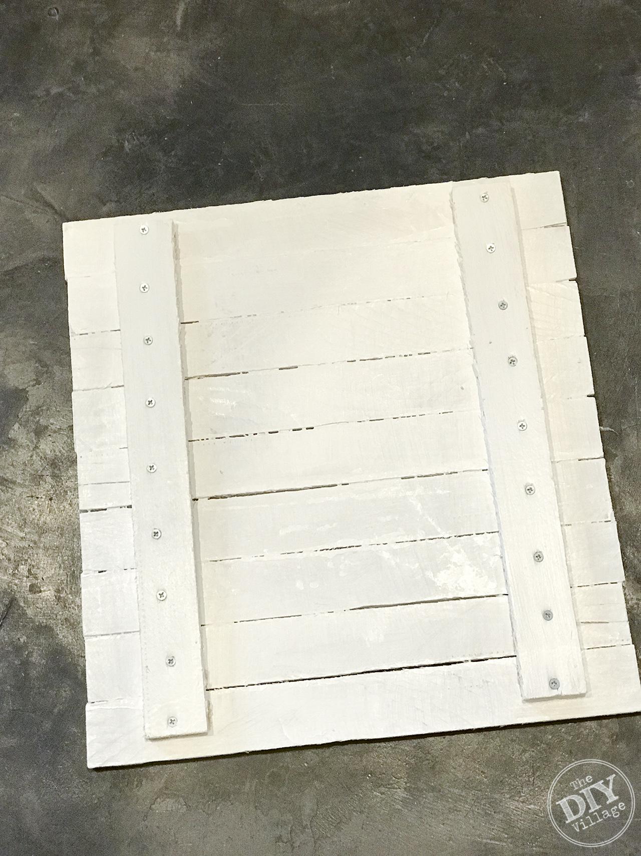 DIY Wood shim display frame - how to