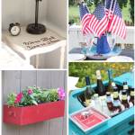 200+ creative red, white, and blue project ideas and decor. #patriotic #redwhiteblue #decor #fourthofjuly #bluedecor #whitedecor #reddecor #crafts