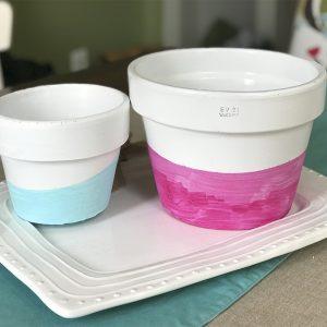 Easy DIY Watercolor Ombre Terra Cotta Pots