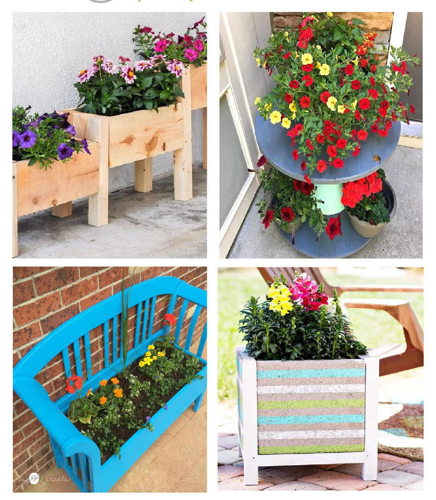 Junk Garden Ideas 2018 Edition: 12 Inspirational Flowering Container Garden Projects