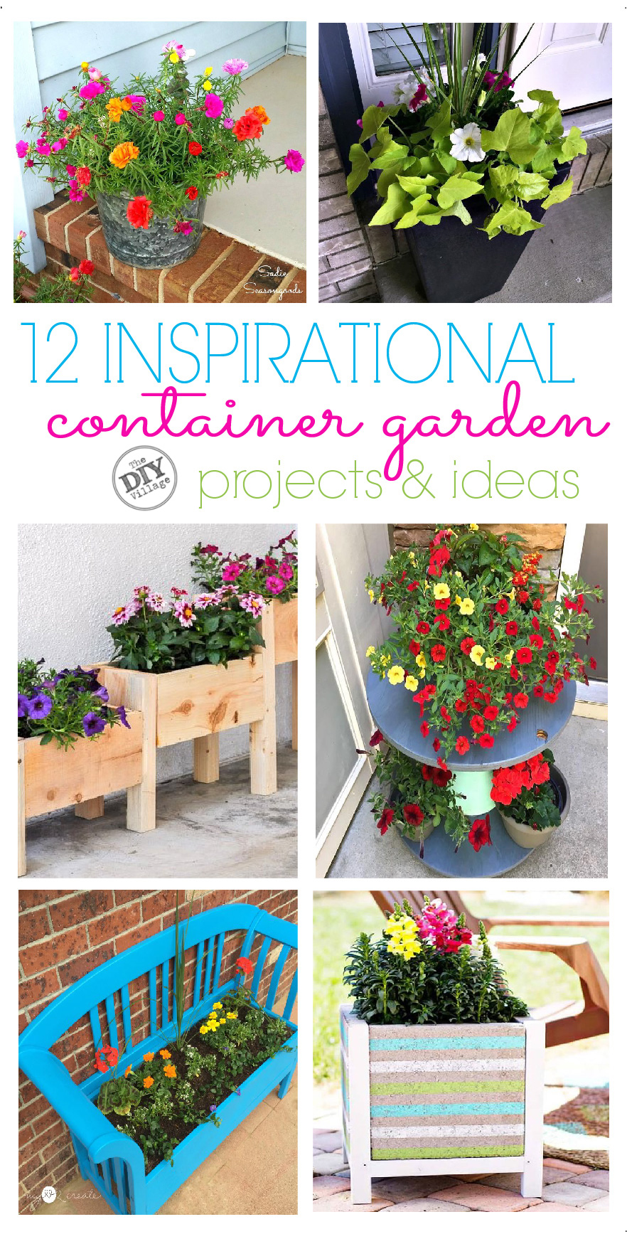 12 inspirational flowering container garden projects and ideas.