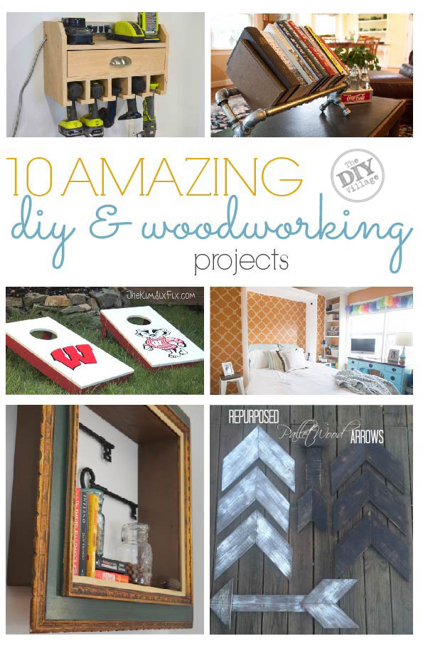 10 amazing diy & woodworking projects. Some of my favorite projects from my favorite DIYers in one place. #woodworking #diy #powertools #home #murphybed #workshop #decor